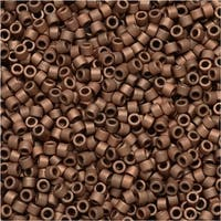 Miyuki Delica Seed Beads 11/0 - Matte Copper Plated DB340 7.2 Grams