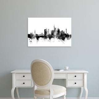 Easy Art Prints Michael Tompsett's 'Frankfurt Germany Skyline' Premium Canvas Art