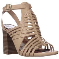 madden girl Remiie Strappy Woven Sandals, Natural