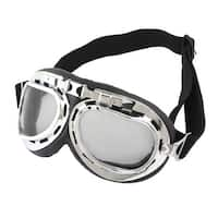 Unique Bargains Winter Clear Gray Lens Cycling Outdoor Protective Glasses Anti Fog Ski Goggles