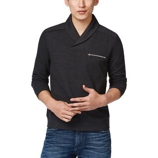 INC International Concepts Shawl Collar Sweater Deep Black Small S