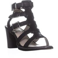 White Mountain Gemmy Block-Heel Dress Sandals, Black/Burn/Smooth