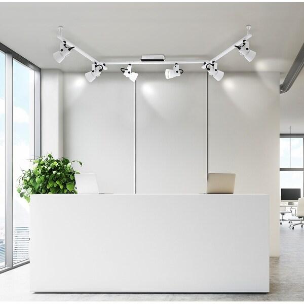 Eglo Trillo 6-Light Track Light with White and Black Finish