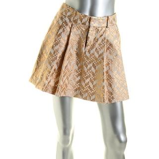 Rachel Rachel Roy Womens Cotton Foiled Pleated Skirt - M