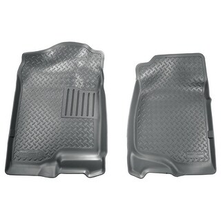 Husky Classic 2007-2013 Cadillac Escalade EXT 2nd Row Bench/Bucket Grey Front Floor Mats/Liners