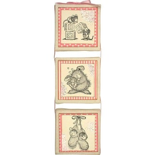 """Stampendous House Mouse Cling Stamp 3.5""""X4""""-Baby Blocks"""