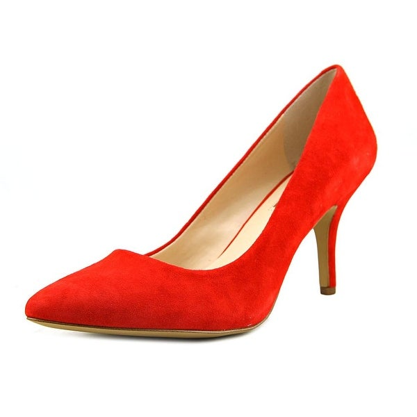 INC International Concepts Zitah Women Pointed Toe Leather Red Heels