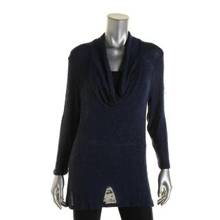 Soft Joie Womens Cowl Neck Knit Pullover Sweater - L