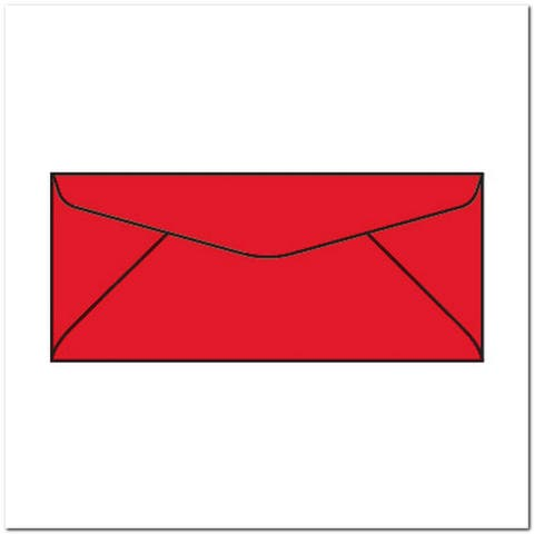 """#10 Bright Colored Envelopes, 4-1/8"""" x 9-1/2"""" 24# (Box of 500) - 4-1/8 x 9-1/2 in"""