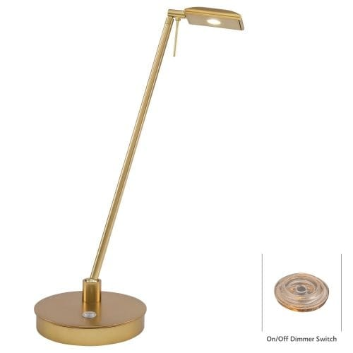 Kovacs P4326-248 1 Light LED Desk Lamp in Honey Gold from the George's Reading Room-Tablet Collection