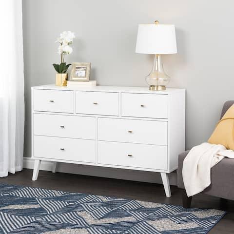 Prepac Milo Mid-Century Modern 7-Drawer Dresser