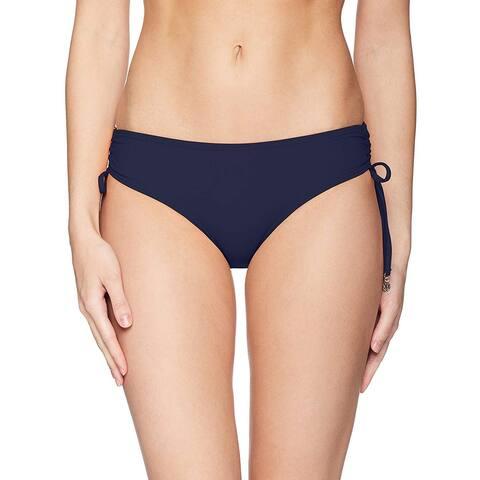 Anne Cole Women's Swimwear Navy Blue Size Medium M Bikini Bottom Tied