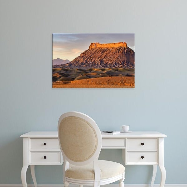 Easy Art Prints Chuck Haney's 'Factory Butte And The Henry Mountains' Premium Canvas Art