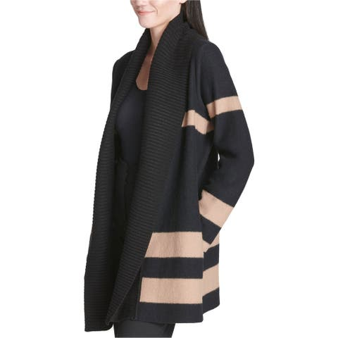 Calvin Klein Womens Color Block Cardigan Sweater