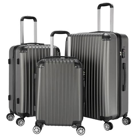3Pcs Traveling Luggage, Rolling Traveling Storage Suitcase Luggage Set, Portable Abs Large Capacity Luggage Bags For