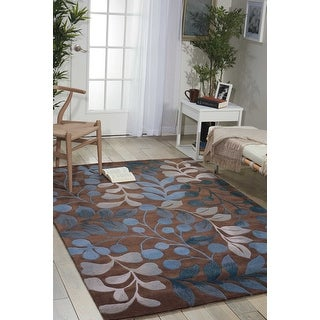 Link to Nourison Hand-tufted Contours Oversized Leaf and Branch Area Rug Similar Items in Transitional Rugs