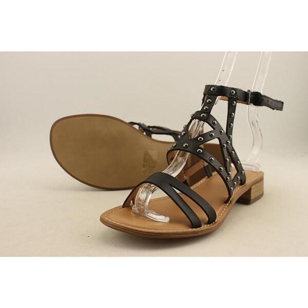 Franco Sarto Apollo Women Open Toe Leather Black Sandals