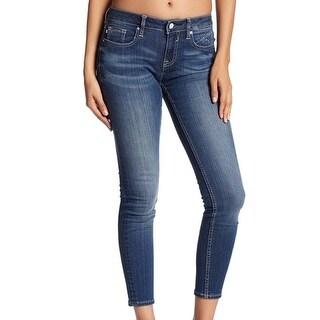 Vigoss NEW Blue Women's Size 27X28 NY Ankle Crop Skinny Denim Jeans