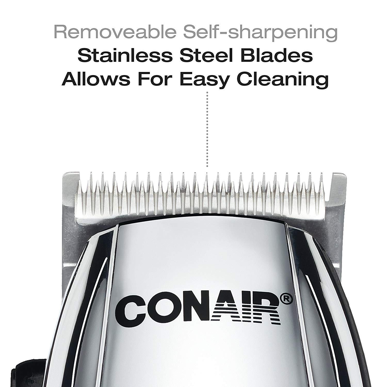 Conair Cord/Cordless Rechargeable 112 Piece Haircut Kit Home Hair Cutting  Kit Chrome - Silver - 112 x 112 x 112.12