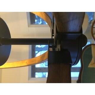 Vineyard Distressed Mahogany and Bronze 4-light Orb Chandelier