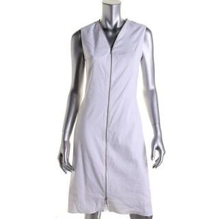 Elie Tahari Womens Kate Linen Sleeveless Wear to Work Dress - 6