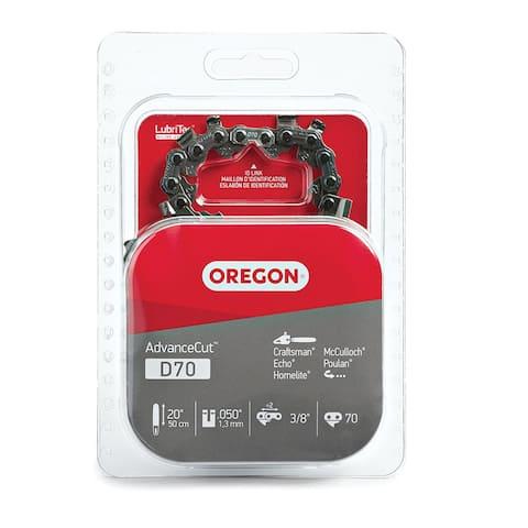 """Oregon D70 AdvanceCut 72V Low Kickback Saw Chain, 20"""""""