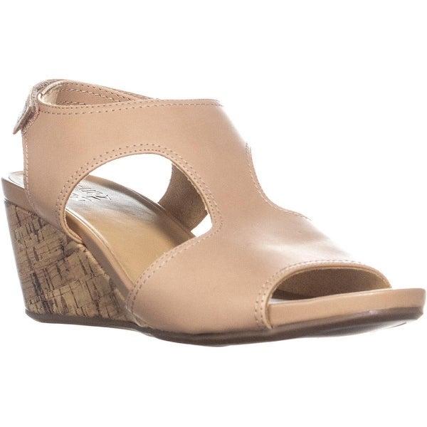 77090e73ffd Shop naturalizer Cinda Wedge Sandals, Ginger - 9 US / 39 EU - Free ...