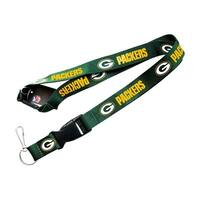 NFL Lanyard Keychain Batch Id Holder Green Bay Packers - Green