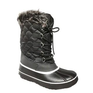 Anna Almeida Aspen-1/Frozen01 Women Winter Cold Weather Snowboots Lace Up Zipper - black01