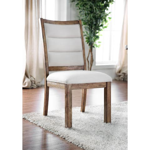 Carbon Loft Bern Rustic Wooden Dining Chairs (Set of 2)