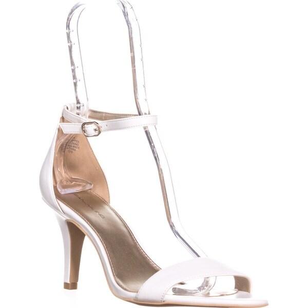 Bandolino Madia Ankle Strap Peep Toe Sandals, White