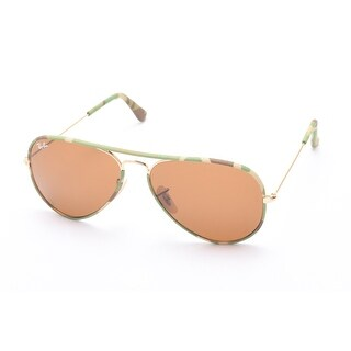 Ray-Ban Aviator Full Color Sunglasses Light Green Camoflauge/Gold - Small