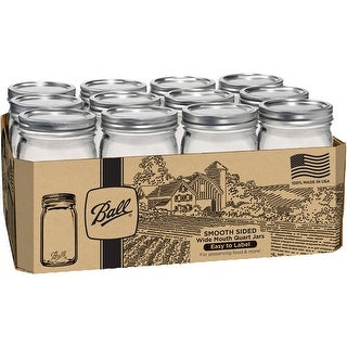 Ball Wide Mouth Canning Jars 12/Pkg-Quart