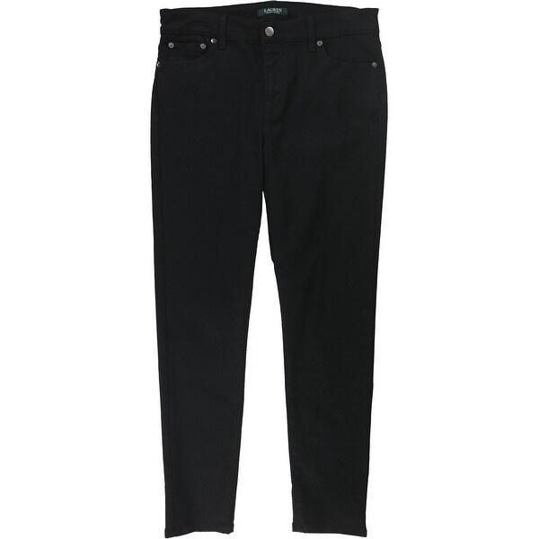 Ralph Lauren Womens Premier Skinny Fit Jeans, Black, 10. Opens flyout.