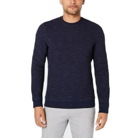 Alfani Mens Sweatshirt Textured Crew Space Dye Pullover