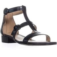 naturalizer Mabel Flat Ankle Strap Sandals, Black
