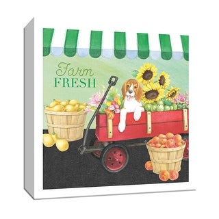 "PTM Images 9-152073  PTM Canvas Collection 12"" x 12"" - ""Farm Fresh"" Giclee Dogs Art Print on Canvas"