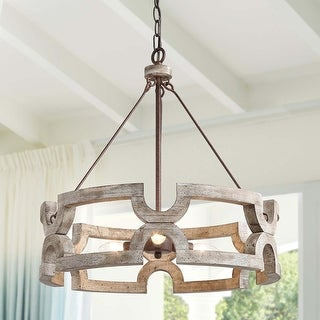 Link to The Gray Barn Maplehurt Farmhouse Drum Chandelier Similar Items in Chandeliers