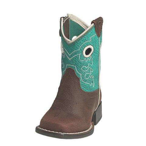 Ariat Western Boots Boys Boston Pull On Lil Stompers Brown