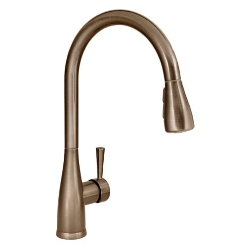 Wonderful Mirabelle MIRXCCA100 Calverton Pullout Spray Kitchen Faucet With High Arch Gooseneck  Spout   Free Shipping Today   Overstock.com   19924775
