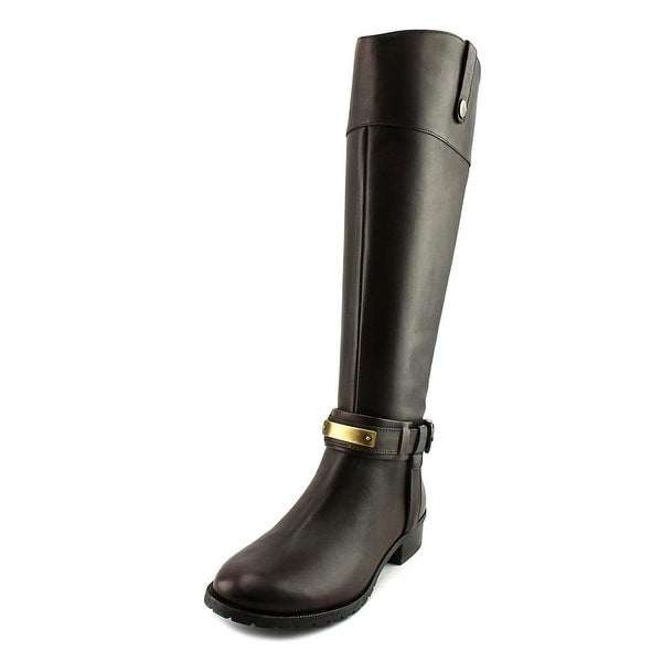 INC International Concepts Fabbaa Wide Calf Women Dark Chocolate Boots