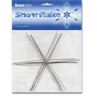 Beadsmith Metal Wire Snowflake Forms - Fun Craft Beading Project 6 Inches