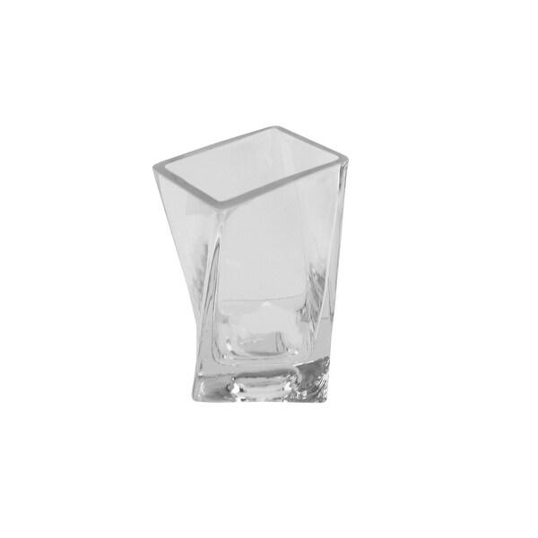 "5.75"" Dual Purpose Transparent Glass Tea Light Candle Holder"