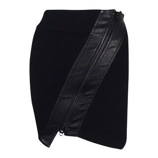 Guess Women's Faux Leather Trim Mini Skirt
