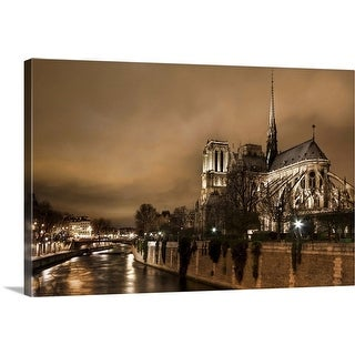 """""""Storm Brewing Over Notre Dame"""" Canvas Wall Art"""