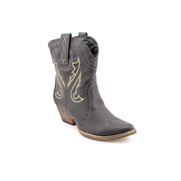 Volatile Markie Women Pointed Toe Synthetic Black Western Boot