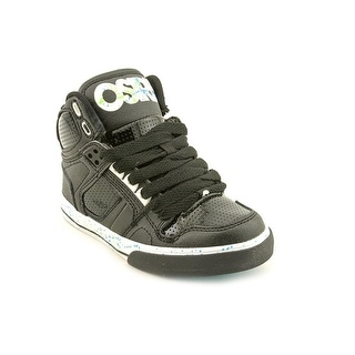 Osiris NYC 83 VLC Youth Round Toe Leather Black Skate Shoe