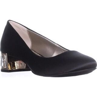 Anne Klein Haedyn Jeweled Block Heel Pumps, Black2
