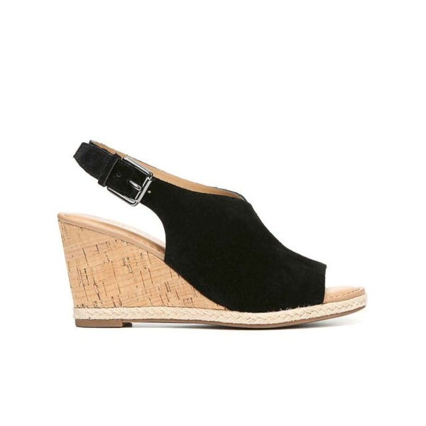 Franco Sarto Womens Julien Leather Open Toe Casual Platform Sandals - 6.5