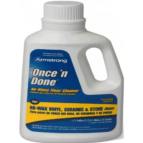 Armstrong 330408 Once 'n Done No-Rinse Floor Cleaner Concentrate, 1-Gallon